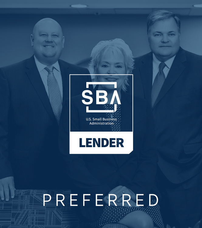 sba lender logo on top of picture of springfield lending team